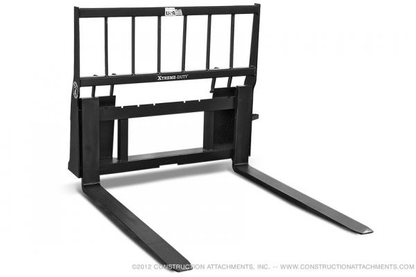 Construction Attachments Inc. | Pallet Fork Attachments | Model Xtreme Duty Pallet Forks for sale at Evergreen Tractor
