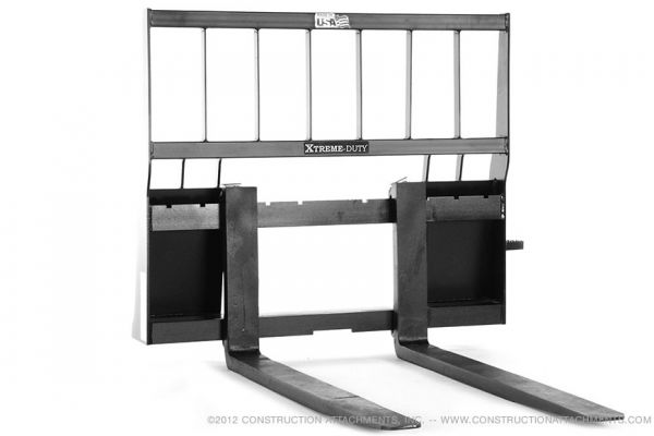 Construction Attachments Inc. | Pallet Fork Attachments | Model Xtreme Duty Heavy Lift Pallet Forks for sale at Evergreen Tractor
