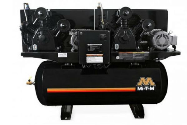 Mi-T-M 120-Gallon Two Stage Electric, Duplex Air Compressor - AED-20315-120HM for sale at Evergreen Tractor, Louisiana