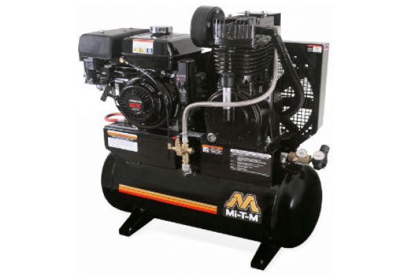 Mi-T-M | Stationary Air Compressors | Model 20-Gallon Two Stage Gasoline - AM2-SH09-20M for sale at Evergreen Tractor, Louisiana
