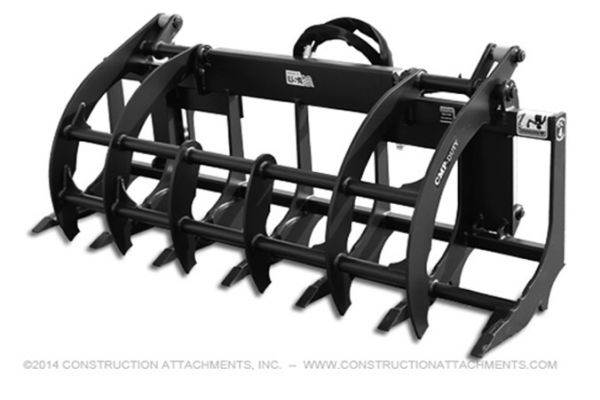 Construction Attachments Inc. Compact Root Rake Grapple - Tractor Loader Attachment for sale at Evergreen Tractor, Louisiana